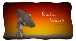 Antenne parabolique de radiotélescope Aspiration de croquis de vecteur illustration stock