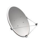 Antenne parabolique sur un fond blanc Photographie stock libre de droits