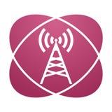 Antenne rose de signe illustration libre de droits