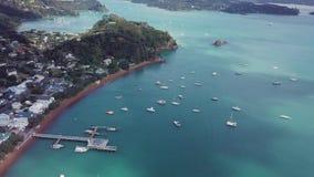 Antenne, Russell In New Zealand Bay van Eilanden 4k stock footage