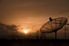 Antenne Satellietontvanger royalty-vrije stock foto