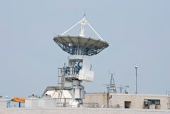 Antenne sind Satelliten verbunden Lizenzfreie Stockbilder