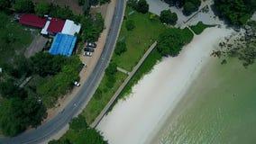 Antenne Strand- und Straßenkambodschas Asien stock footage