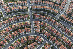 Antenne suburbaine de voisinage de la Californie photos stock