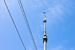 Antenne sul fondo del cielo blu Immagini Stock Libere da Diritti
