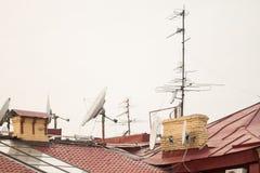 Antenne sul tetto Immagine Stock Libera da Diritti