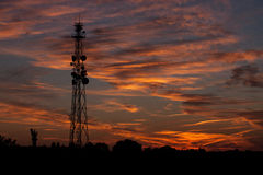 Antenne sul tramonto Fotografia Stock Libera da Diritti