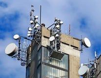 Antenne sulla cima di alta costruzione Fotografie Stock