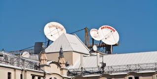 Antenne sur le toit Photographie stock libre de droits