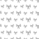 Antenne tirée par la main de modèle sans couture Croquis de noir de griffonnage Signe S illustration stock