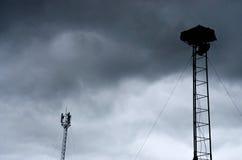 Antenne und Wolke Stockfotos