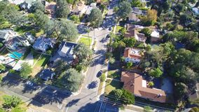 Antenne van buurt in Californië stock videobeelden