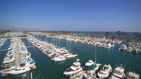 Antenne van Dana Point Harbor stock footage