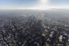 Antenne van de de Torens de Wazige Middag van Los Angeles Stock Foto