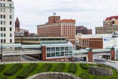 Antenne van de Gebouwen Van de binnenstad in Albany, New York Royalty-vrije Stock Fotografie