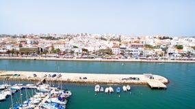 Antenne van de haven in Lagos Portugal Stock Foto's
