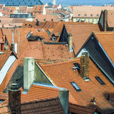 Antenne van de oude stad van Bamberg Stock Afbeelding