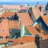 Antenne van de oude stad van Bamberg Stock Foto's