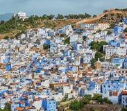 Antenne van de stad Chefchaouen in Marokko Royalty-vrije Stock Fotografie