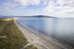 Antenne van Dublin Bay wordt geschoten dat royalty-vrije stock afbeeldingen