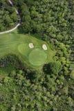 Antenne van golfcursus. Stock Fotografie