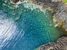 Antenne van het duidelijke water dat van Saojorge wordt geschoten royalty-vrije stock foto