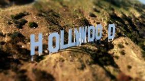 Antenne van het Hollywood-Teken stock videobeelden