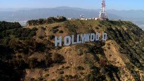 Antenne van het Hollywood-Teken stock footage