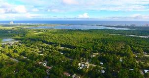 Antenne van het oranje strandoosten Stock Foto's