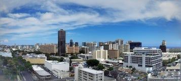 Antenne van Honolulu, Diamond Head, Waikiki, Gebouwen, parken, hotels en Flatgebouwen met koopflats Royalty-vrije Stock Fotografie