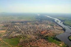 Antenne van Juba, hoofdstad van Zuid-Soedan Royalty-vrije Stock Afbeeldingen