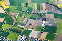 Antenne van landbouwgrond dichtbij Mainz Royalty-vrije Stock Foto's