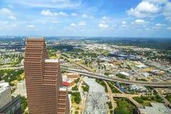 Antenne van moderne gebouwen Stock Afbeeldingen