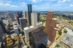 Antenne van moderne gebouwen Stock Afbeelding