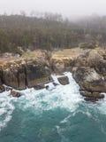 Antenne van Mooi, Rocky Northern California Coastline stock afbeeldingen