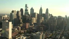 Antenne van Philadelphia wordt geschoten dat stock video
