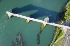 Antenne van Pont D ` Avignon, Frankrijk Stock Foto