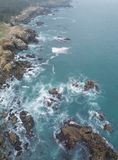 Antenne van Rocky Northern California Coast stock fotografie