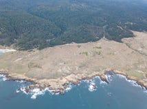 Antenne van Sonoma-Oever in Californië stock fotografie