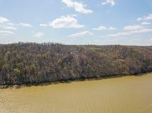 Antenne van Susquehanna-Rivier en Omringend Gebied in Delta, Penns stock afbeelding