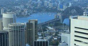 Antenne van Sydney, de horizon en Brug 4K van Australië stock video