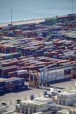Antenne van verschepende containers bij de Haven van Barcelona royalty-vrije stock fotografie