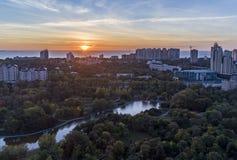 Antenne van Victory Park in Odessa wordt geschoten dat Royalty-vrije Stock Afbeelding