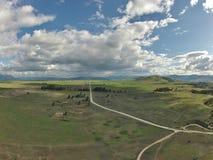 Antenne van Westelijk Montana Valley Royalty-vrije Stock Afbeeldingen