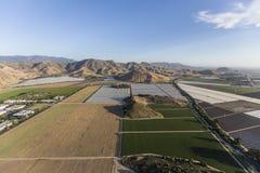 Antenne Ventura County de champs de ferme de la Californie Photographie stock