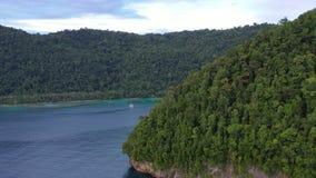 Antenne von üppigen Inseln in Papua-Neu-Guinea stock video footage