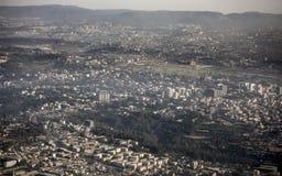 Antenne von Addis Ababa, Äthiopien Lizenzfreie Stockfotografie