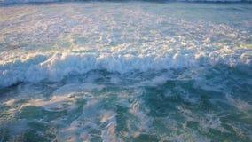 Antenne von den Meereswogen stock video