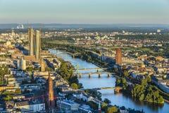Antenne von Frankfurt mit EZB Lizenzfreie Stockfotografie