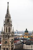 Antenne von München-Stadt, Deutschland Stockbild